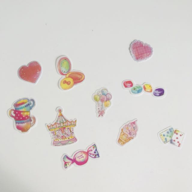 10 x Die Cut Stickers (for planners, diaries etc)