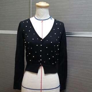 義大利MONCRUZ 珠飾美麗諾羊毛外套