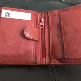 Italian red leather wallet