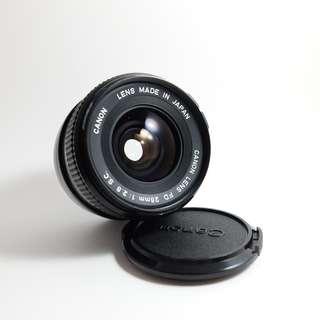 Canon FD 28mm f2.8 S.C Lens