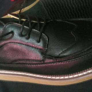 Seanut Men's Retro Leather Shoes 9US