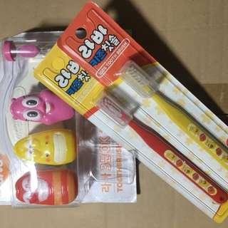 Larva Toothbrush Set