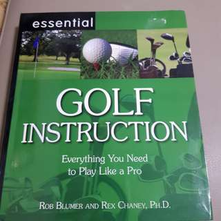 Book on golf instruction