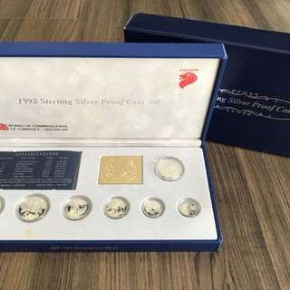 Singapore 1992 Silver Proof Coin Set