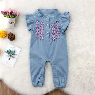 Embroidery Baby Rompers