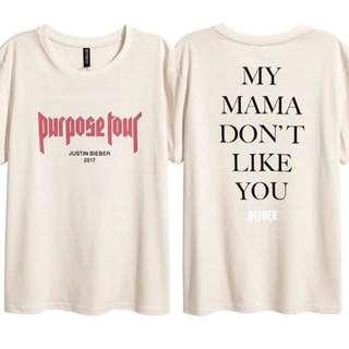 Purpose tour tee stadium justin bieber merch hoodie sweater