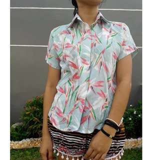 Unisex Polo Floral Short Sleeves
