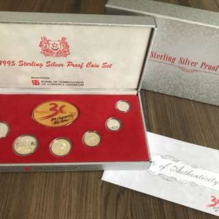 Singapore 1995 Silver Proof Coin Set