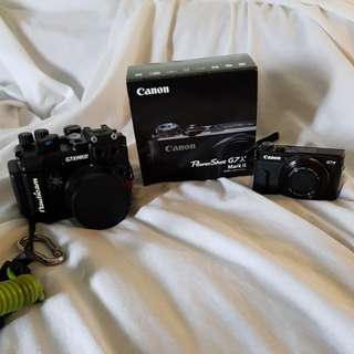 Canon Powershot and Nauticam underwater housing for G7X Mark II