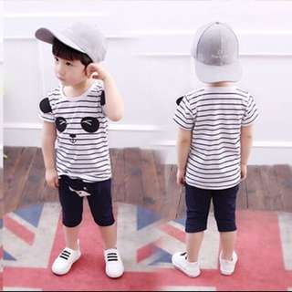 CNY hot sales 🔥-Boys short-sleeved suit small children summer 1-3-Year-Old tide baby shirt shorts two-piece sets infant children summer clothes
