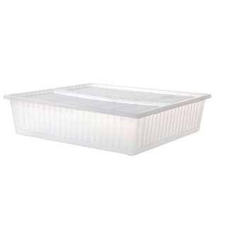 ❤️❤️❤️九成新床底衣物收納盒(附蓋)「清新白」