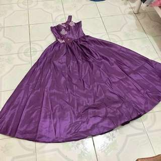 Purple Gown (petticoat included)