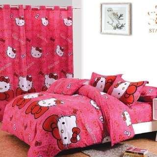 Hello Kitty US Cotton Bedsheet Set