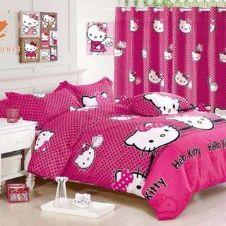 Hello Kitty US Cotton Bedsheet Set