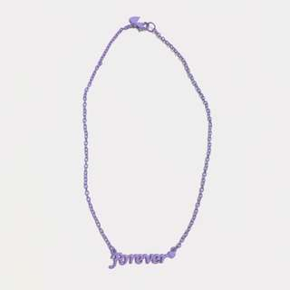 Girls / Teenager Cute 'Forever' Colourful Purple Necklace