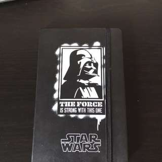 Moleskin Star Wars collectable note book Darth Vader