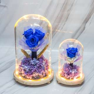 Blue Preserved Rose Bouquet - OOS