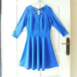 DRESS MATERIAL GIRL SEXY BLUE