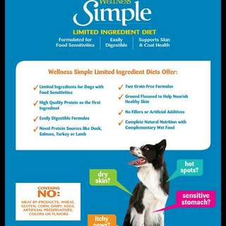 Wellness simple dry food