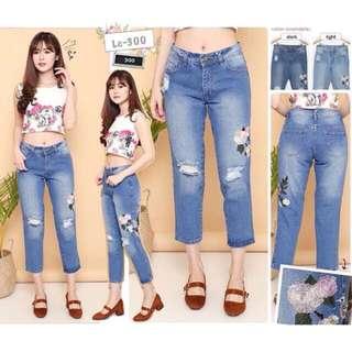 Bordir pants jeans premium
