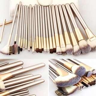 Make up brush set (creamy)