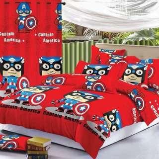 Captain America US Cotton Bedsheet Set