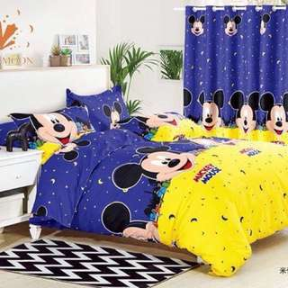 Mickey Mouse US Cotton Bedsheet Set