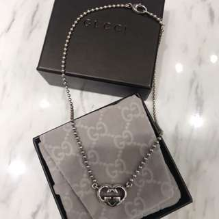 非常新凈 9成半新 正貨 GUCCI 銀頸鏈 necklace 925 sliver
