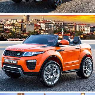 In stock Range Rover Kids Electric Car With Opening Doors - Orange