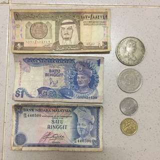 Old Note old money duit lama