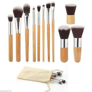 (PO) Set - Bamboo Make up brushes