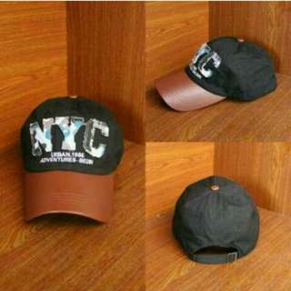 Topi Baseball NYC Black