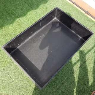 Rectangular Black Water Feature Pond