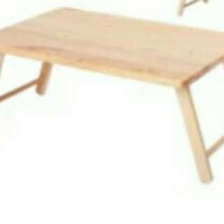 Wood portable table