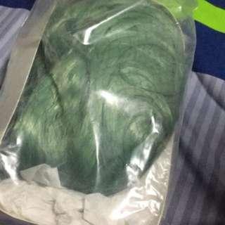 A bag of green hair