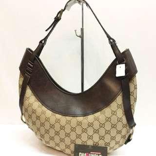 Authentic gucci crescent hobo bag