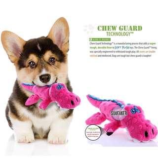 Brand New SMALL goDog Gators With Chew Guard Technology Tough Plush Dog Toy