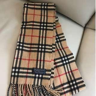 burberry 經典格頸巾