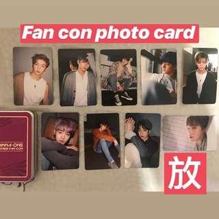 wanna one fan con photo card