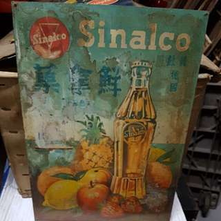 Vintage Metal Tin Sinalco Sign board