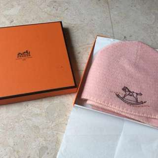 Hermes Cashmere Baby Hat and Scarf set