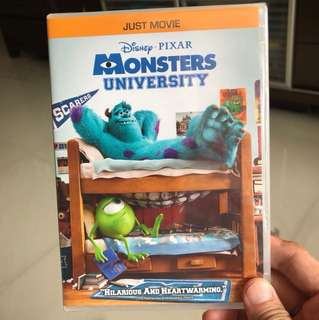 Genuine Monster University DVD PIXAR
