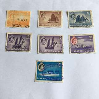 1950s Old Used Stamps
