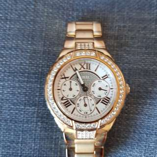 GUESS rose gold watch *needs new battery