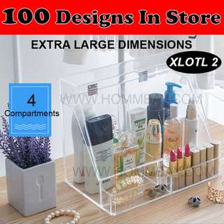 Clear Acrylic Transparent Make Up Makeup Cosmetic Jewellery Jewelry Organiser Organizer Drawer Storage Box Holder (XLOTL2)