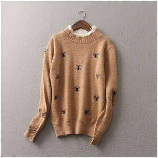 FREE POSTAGE KNITTED ANT PRINTED SWEATER