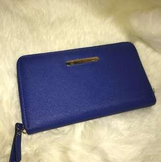 Royal blue wallet