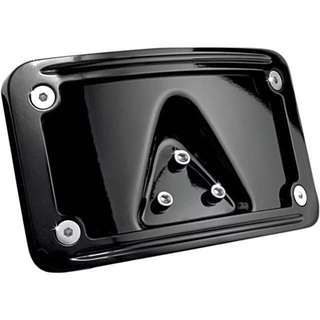 Authentic Kuryakyn Curved Laydown License Plate Mount with Frame for Harley Davidson