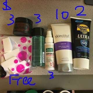 Mix of body/skin care