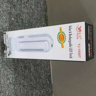 YJ - 1050T Solar & Rechargeable LED Torch